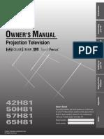 Toshiba 42H81 Owner'sManual
