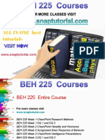 BEH 225 Proactive Tutors/snaptutorial