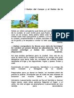 La Fábula Del Ratón Del Campo y El Ratón de La Ciudad