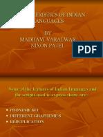 Characteristics of Indian Languages