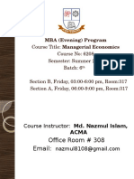 Introduction Managerial Economics
