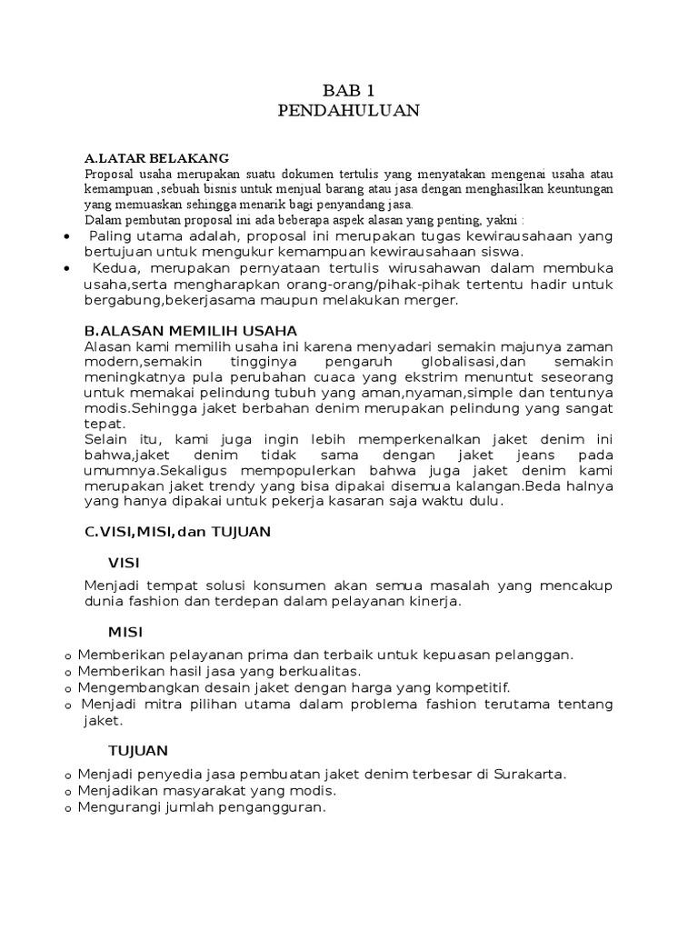 Proposal Usaha Jasa