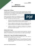 Article 12 - Condominium Regulations