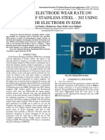 EFFECT OF ELECTRODE WEAR RATE ON MACHINING OF STAINLESS STEEL – 202 USING COPPER ELECTRODE IN EDM