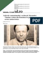 Arhivele Comunismului Scriitorul Alexandru Tambur