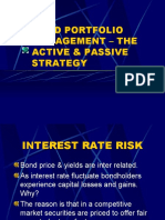 Bond Portfolio Management Active & Passive Strategies