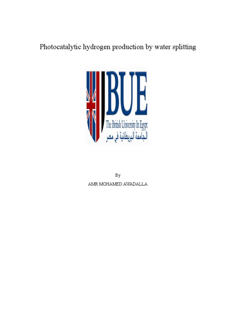 Photocatalytic hydrogen production by water splitting: By