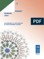 Pnud Maroc Rapport de Developpement Humain 2003