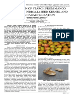 PRODUCTION OF STARCH FROM MANGO (MANGIFERA INDICA.L) SEED KERNEL AND ITS CHARACTERIZATION