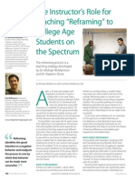 """The Instructor's Role for Teaching """"Reframing"""" to College Age Students on the Spectrum by Dr. Michael McManmon and Dan McManmon"""