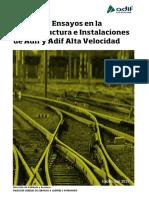 Pruebas Ensayos en la infraestructura e instalaciones de Adif y Adif alta velocidad 2015