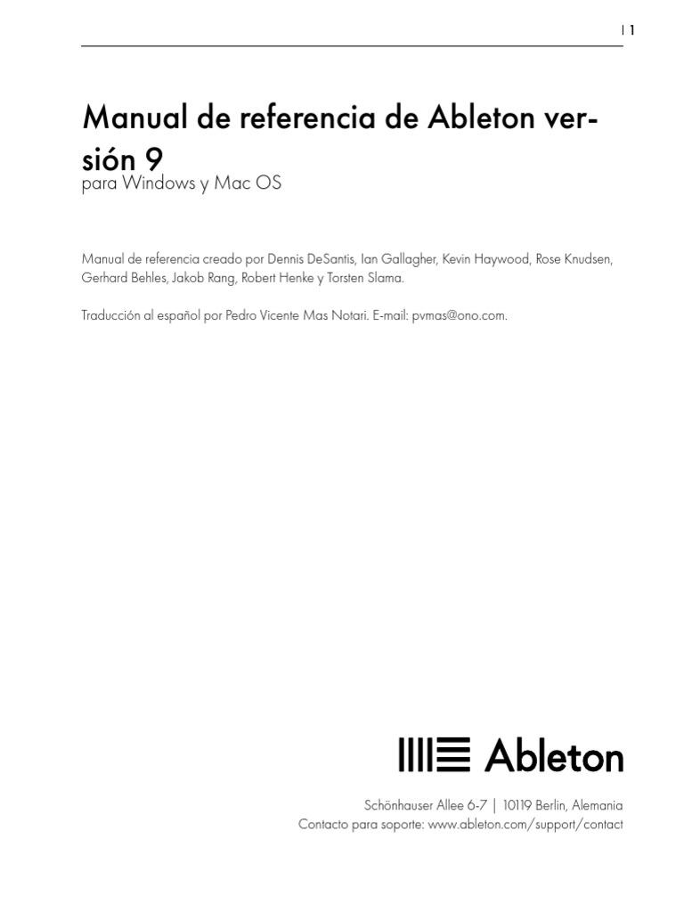 Manual Español Ableton Live 9