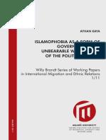 Islamophobia as Governmentality
