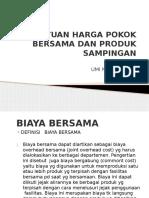 4. Penentuan Harga Pokok Bersama Dan Produk Sampingan