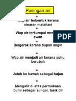 Pusingan Air FLOW CHART