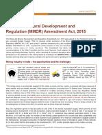 Analysis of MMDR Amendment Act