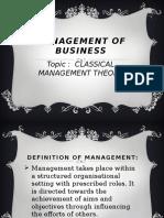 Calssical Management Theory Presentation