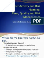 5. Project Activity and Risk Planning