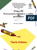 Tema II Estructura Atómica y Tabla Periódica