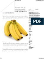 Coma 2 Bananas Por Dia