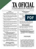 Gaceta Oficial Nº 40.832 - Notilogía