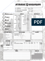Atomic Highway Character Sheet