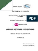 Calculo y Diseño de Un Circuito de Refrigeracion