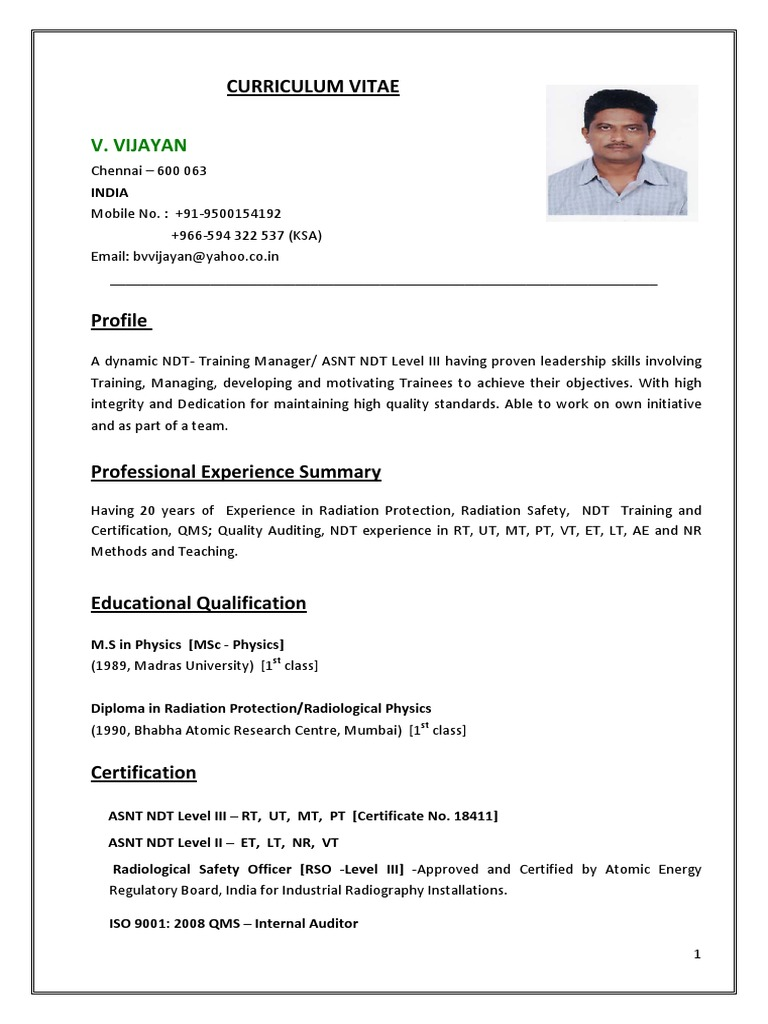 Vjayan Asnt Ndt Level Iii Radiation Protection Radiography