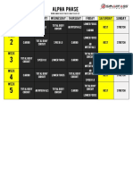 Focus T25 Alpha Schedule