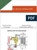 Refractory PPT IN 150 MW CFBC BOILER