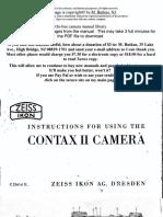 Zeiss Ikon Contax II Manual