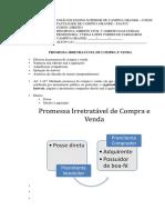 Unesc - Direito Civil v - Promessa Irretratável de Compra e Venda