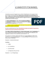 Droit Constitutionnel - Titre 1