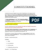 Droit Constitutionnel - Titre 1
