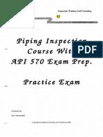 236349555 Practice Exam Answers API 570 PDF