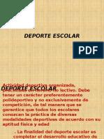 Deporte Escolar 02 de ABRIL
