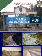Clase Vii Energia Especifica en Canales