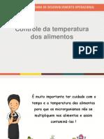 Controle da temperatura dos alimentos