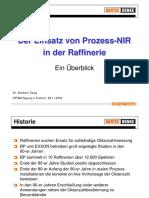 Der Einsatz von Prozess-FTNIR in der Raffinerie
