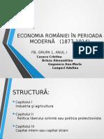 Economia României În Perioada Moderna