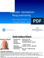 Transfer Validation Requirements