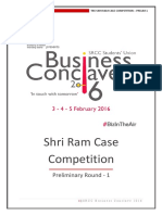 Shri Ram Case Competition 2016 Prelim -1