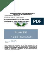 Plan de Investigación Ambiental.