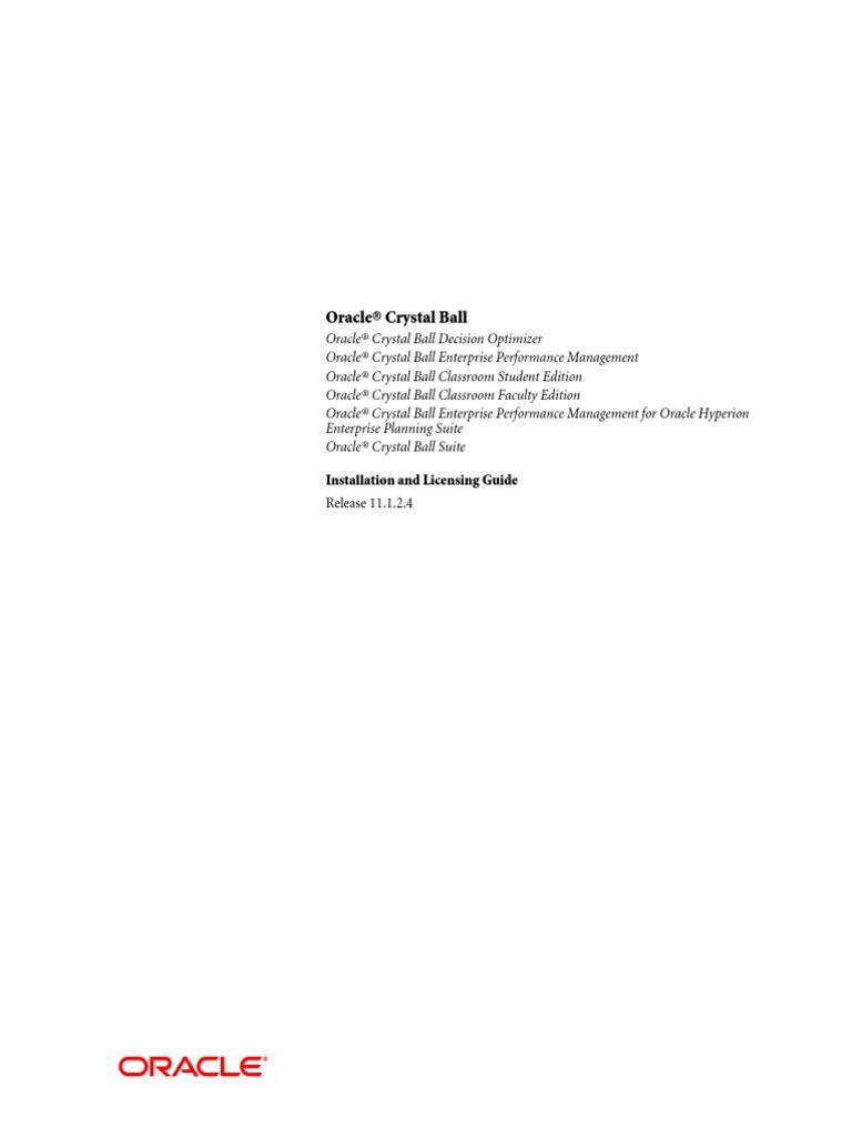 Crystal Ball Installation Guide pdf   Installation (Computer