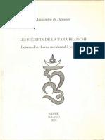 Alexandre de Danann Les Secrets de La Tara Blanche Lettres à Un Lama Occidental à Jean Reyor