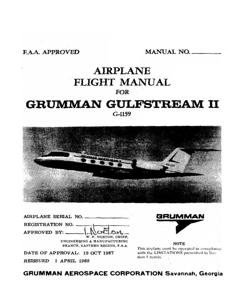 Grumman Gulfstream II Flight Manual