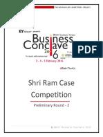 Shri Ram Case Competition 2016 Prelim 2