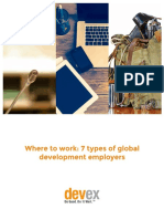 Where to Work 7 Types of Global Development Employers