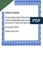 irb research certificate copy
