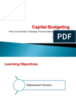 Capital Budgeting Old New Decision
